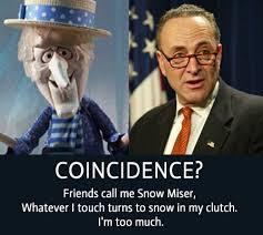 meme magic schumer really snow miser the donald