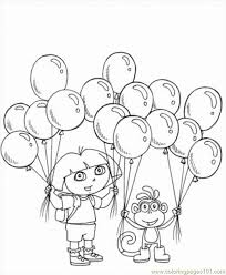 explorer coloring pages 5 lrg coloring free dora