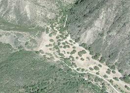 Santa Barbara Map Santa Barbara Upper Oso Campground Hiking Trails Day Hikes
