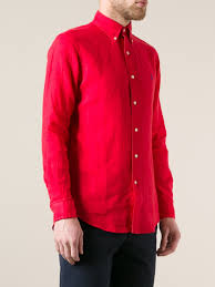 polo ralph lauren classic shirt in red for men lyst