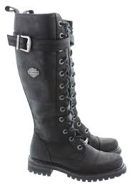 harley motorcycle boots harley davidson savannah knee boots in black
