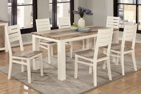 sundance two tone table with 6 side chairs