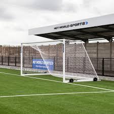 24 x 8 forza alu110 freestanding soccer goal net world sports