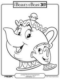free beauty beast printable coloring pages