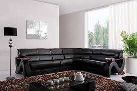 bedroom excellent modern interior furniture design by vig elegant black leather sofa by vig furniture with glass coffee table for luxury living room design