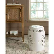 Quatrefoil Side Table White Outdoor Side Tables Patio Tables The Home Depot