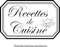 de recette de cuisine tatalo recettes de cuisine avec logo etiquettes