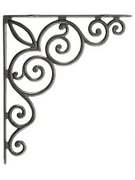 decorative vines cast iron shelf bracket 10 1 8 x 11 3 4