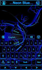go keyboard apk neon blue go keyboard theme
