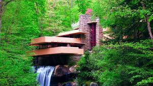 Frank Lloyd Wright Waterfall by Nature Landscape Waterfall Long Exposure Frank Lloyd Wright