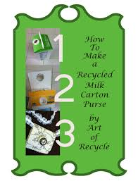 art of recycle turn a milk carton into a coin purse learn the art of recycle