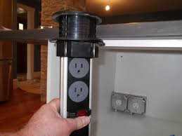 kitchen island electrical outlet with design power grommet also
