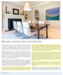 article bringing a house to life with fine art alex ferrone bringing a house to life with fine art by rachel bosworth homes of the north fork magazine summer 2017 two pages