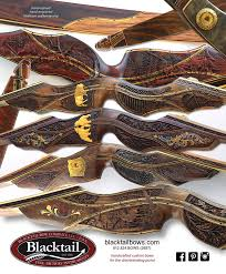 custom bows blacktail bows legacy series carved heirloom investment