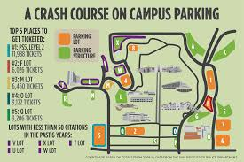 San Diego State Campus Map by Crash Course Parking Citations By The Numbers U2013 The Daily Aztec