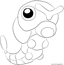 010 caterpie pokemon coloring pages printable