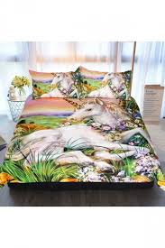 Comfortable Bed Sets Comfortable Unicorn Printed Colourful Three Size Bed