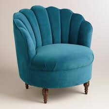 Teal Accent Chair by Peacock Blue Velvet Telulah Chair Peacock Blue Blue Velvet And
