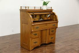 Small Secretary Desk Antique Roll Top Secretary Desk Oak Antique Cylinder With Hutch Photos Hd