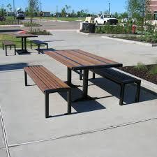 Outdoor Modern Bench Contemporary Bench And Table Set Garden Residential Karel Image On