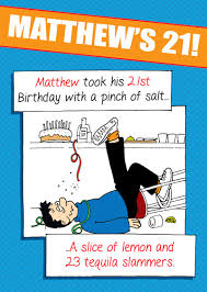 funny son 18th 21st birthday personalised cards