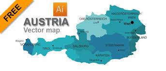 austria map vector free vector map of austria graphic flash sources