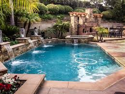 pools with waterfalls swimming pool construction for orange county custom pools luxury