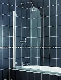 aqualux aqua 5 radius clear glass bath shower screen 1380 x 850mm