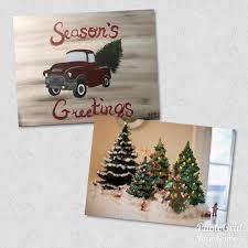 vintage ceramic tree or truck painting