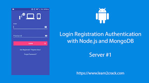 android user android user registration and login with node js and mongodb