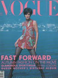 fashion fix classic vogue covers u002790s u2014 double denim days