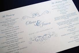 beautiful wedding programs wedding program day design