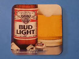 is bud light made with rice beer bar coaster anheuser busch bud light 1989 choicest hops rice