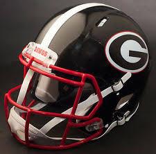 georgia bulldogs ncaa helmets ebay