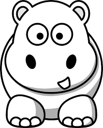 image of baby hippo clipart 3622 free coloring pages of drawings