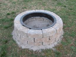 brick patio fire pit custom gas fire pit country manor block with