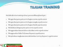 tune up sepeda motor materi plus program pelatihan singkat dan