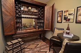 Locking Computer Armoire Computer Armoire In Wine Cellar Traditional With Built In Bars