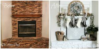the fancy shack stone fireplace makeover