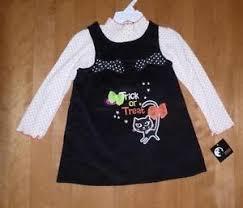 toddler girls trick or treat halloween jumper dress size 2t 4t 5t