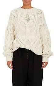 cable sweater ulla johnson pilar cable knit wool sweater barneys york