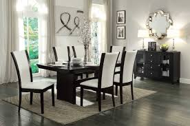 homelegance dining table with glass insert collection d710