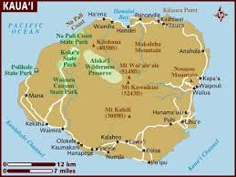 map usa lonely planet map of kauai