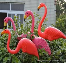 pink flamingo lawn ornaments 2018 pink plastic flamingos garden accessories crafts landscape