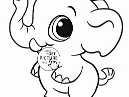 download cute elephant coloring pages
