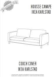 comment faire une housse de canapé ikea karlstad cover pattern patron housse ikea