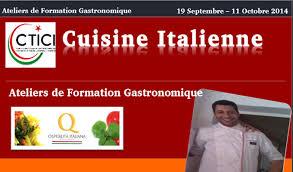 centre de formation cuisine tunisie tunisie atelier de gastronomie italienne directinfo