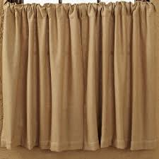 burlap natural curtain tiers primitive home decors