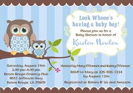 baby shower invitations for boy owl baby shower invitations boy baby shower