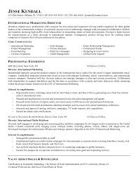 ideas of marketing director resume sample in download gallery